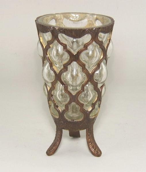 """Picture of Bronze Finish Vase  #C76081  4.5""""Dx8""""H"""