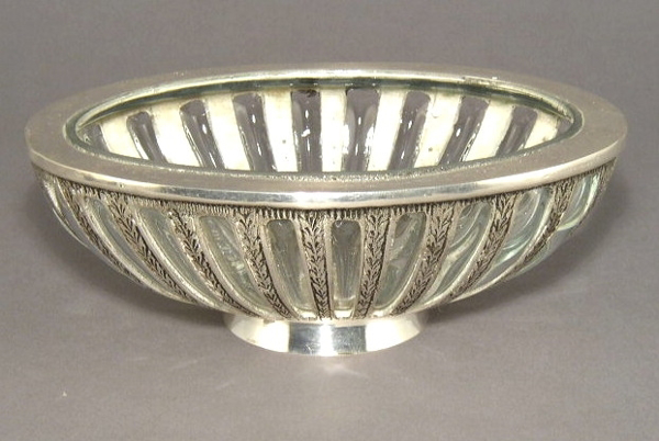 """Picture of Silver Plated Oval Bowl #C34210 """"SOLD AS IS""""  6.5""""x9""""x3""""H"""