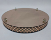 """Picture of Rose Gold Mirror Cake Stand with 4 Rows of Square Mirror Chips Border 