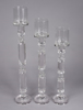 """Picture of Crystal Candle Holder- Faceted Cylinder Stem for Pillar Or Taper Candle Set/2    5.5""""Diax22""""High    Item No. 20225"""