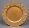 "Picture of Charger Plate Gold Acrylic Sun Rays Border Glitter Set/6  | 13""Diameter 