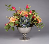 """Picture of Silver Color Bowl Nickel Plated Smooth with Pedestal 