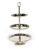 """Picture of Nickel Finish on Metal Cupcake Stand 3-Tier with Rhinestone Border Trays  