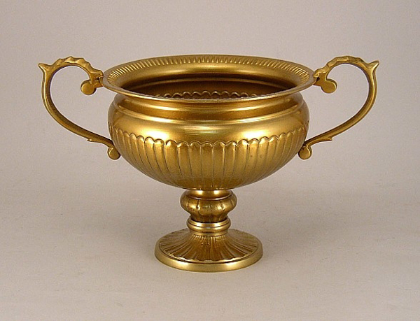 "Picture of Antique gold bowl handles  SOLD AS IS 8""Dx6.75""H  #51477X"