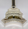 "Picture of Floral Stand Silver Plated on Brass Ornate Embossed Base | 12""Dx33.5""H 