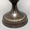 "Picture of Bronze Finish on Brass Unique Decorative Accent Finial with Bird Handles  | 6.5""Dx18""H 