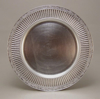 """Picture of Charger Plate Silver Acrylic Embossed Border Set/6  