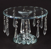 """Picture of Crystal Cup Cake Stand Round on Pedestal Base 12 Hanging Strands    9""""Dx6""""H    Item No. 20290"""