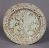 """Picture of Charger Plate Sea Green Mosaic on Metal Base Set/6  