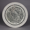 "Picture of Charger Plate Pearl Border Silver Mosaic on Metal Base Set/6  | 13""Diameter 