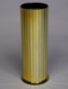 """Picture of Gold Vase Cylinder with Gold Mirror Strips Set/2  