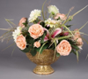 """Picture of Gold Bowl Compote Vase Irregular Shaped Glass Chips Mosaic Pattern 