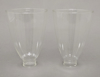 """Picture of Clear Glass Hurricane Shade Pair  4.5""""Dx6.5""""H  #K20912P"""