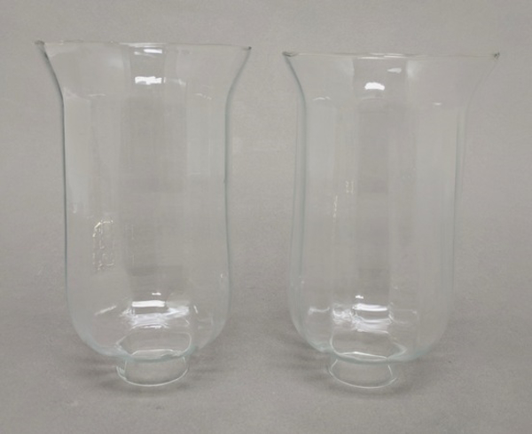 "Picture of Clear Glass Hurricane Shade Pair  4.25""Dx7.25""H  #K20911P"