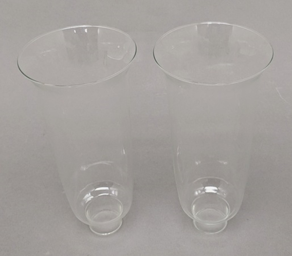 "Picture of Clear Glass Hurricane Shade Pair  4""Dx9""H  #K20924P"