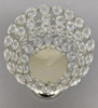 """Picture of Nickel Plated Crystal Bead Votive Candle Holders  Set/2    4""""D x 14.5""""H    Item No. 16170"""