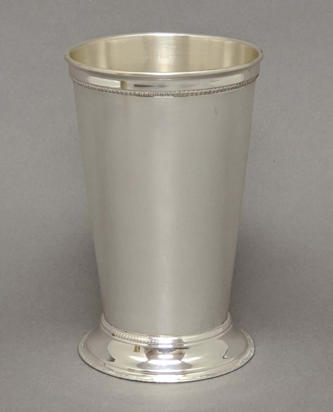 "Picture of Julep Cup Silver Plated on Brass 3.75""Dx6""H  #79609X  SOLD AS IS"