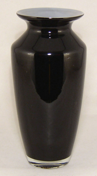 """Picture of Vase Glass Taper Black 4""""Dx10""""H  #12204 NEW REDUCED PRICES"""