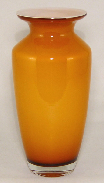 "Picture of Vase Glass Taper Amber 4""Dx10""H  #12304  NEW REDUCED PRICES"