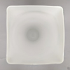 """Picture of White Vase Glass Square Top Floral Centerpiece  