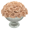"""Picture of Silver Bowl speckled Mercury Glass Dry Flower Arrangement Smooth Finish 