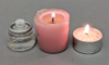 """Picture of Clear Glass Peg Votive Candle Holder Swirl Pattern Set of 4 