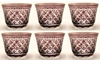"""Picture of Votive Candle Holder Mesh Cut Amethyst Color Glass Set of 6  3""""Dx2.5""""H   Item No.20657"""
