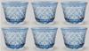 "Picture of Votive Candle Holder Mesh Cut Design Light Blue Color Glass Set of 6 |3""Dx2.5""H|  Item No.20667"