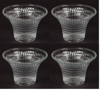 """Picture of Votive Candle Holder Clear Glass Hatch Pattern Flared Set/4 