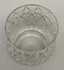 """Picture of Votive Candle Holder Clear Glass Embossed Set of 6 