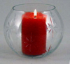 """Picture of Votive Candle Holder Clear Cut Glass Ball Set of 4  5""""Dx4""""H   Item No. 20158"""