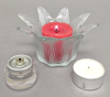 """Picture of Votive Candle Holder Clear Glass Lily Shape Set of 6 