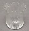 """Picture of Votive Candle Holder Clear Glass Tulip Shape Set of 12 