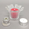 """Picture of Votive Candle Holder Clear Glass Tulip Shaped Set of 6 