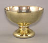 """Picture of Gold Bowl Mercury Glass Dry Flower Arrangement Smooth 
