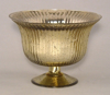 """Picture of Gold Bowl Mercury Glass Dry Flower Arrangement with Lines 