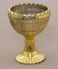 "Picture of Gold Mercury Glass Bowl Dry Flower Arrangement Chalice Set/4 | 3.5""Dx5""H | Item No. 16057"
