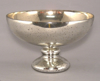 "Picture of Silver Bowl Speckled Mercury Glass Dry Flower Arrangement Smooth Finish | 10""Dx6.25""H 