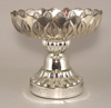 """Picture of Silver Bowl Mercury Glass Dry Flower Arrangement Low Tray 