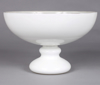 """Picture of White Bowl Glass Half Round on Pedestal Base  