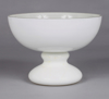 "Picture of White Bowl Glass Half Round on Pedestal Base  | 7.75""D x 5.5""H 