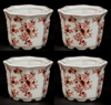"""Picture of Red Floral Print on White Ceramic Planter Octagonal Set/4  