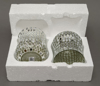 """Picture of Silver Vase Mosaic Glass Bubble with Diamond Shape Clear & Mirror Chips Set/2 