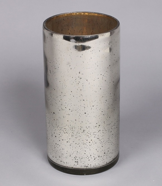 """Picture of Silver Mercury Glass Cylinder Vase  