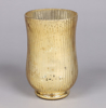 "Picture of Gold Mercury Glass Hurricane Vase with Lines Set/2  | 4.75""Dx8""H 
