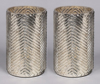 """Picture of Silver Mercury Glass Cylinder Vase with Lines Set/2   