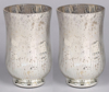 """Picture of Silver Vase Mercury Glass Hurricane with Lines Set/2  