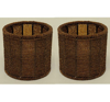"""Picture of Brown Bead Votive Candle Holder with Glass Insert Set of 2 