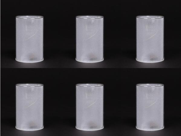 """Picture of Cylinder Votive Candle Holder with LED Lights Set of 6 I 2.5""""Dx4""""H I #20105"""