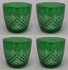 "Picture of Votive Candle Holder Mesh Cut Color Glass Green Set of 4  3.25""Dx3""HI  Item No.73124"